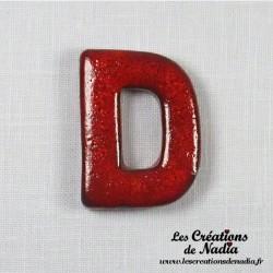 Lettre D en céramique