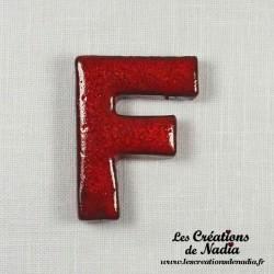 Lettre F en céramique