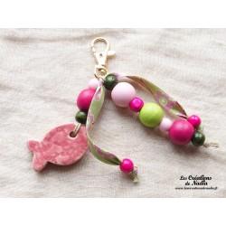 Grigri bijoux de sac rose