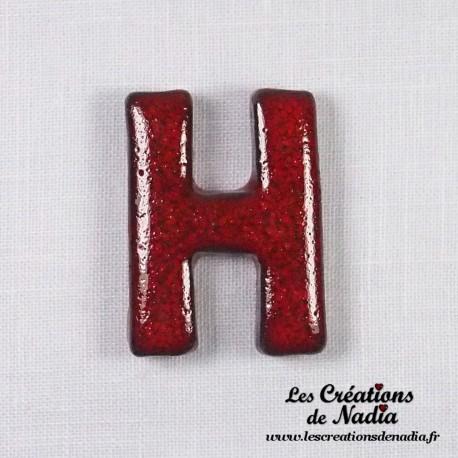 Lettre H en faïence émaillée - Lettre en céramique (Made in France)