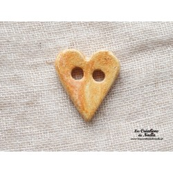 Bouton coeur biscuit