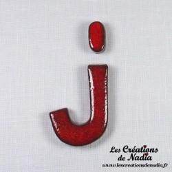 Lettre J en céramique