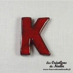 Lettre K en céramique