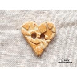 Bouton coeur pain d'épice