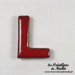 Lettre L en céramique