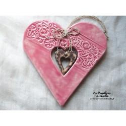 Coeur Hansi rose