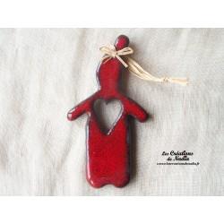 Lutine rouge piment en poterie