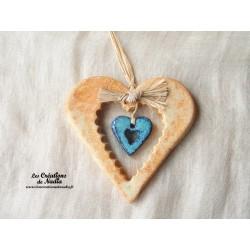 Moyen coeur nature biscuit en poterie