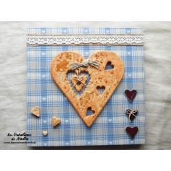 Tableau coeur Hansi en céramique de couleur pain d'épice