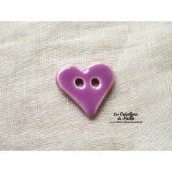 Bouton coeur couleur lilas
