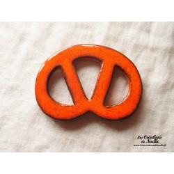 Bretzel dessous de plat couleur orange