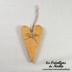 Coeur allongé biscuit