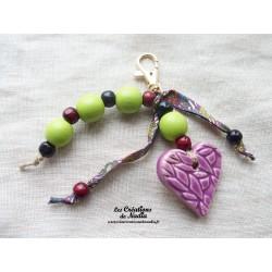 Grigri bijoux de sac vert reinette