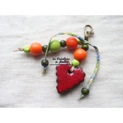 Grigri bijoux de sac orange