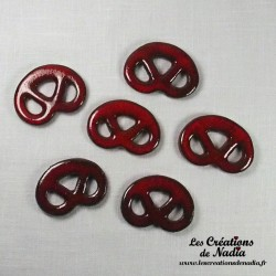 Lot de 6 mini bretzels rouge piment