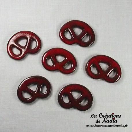Lot de 6 mini bretzels rouge piment