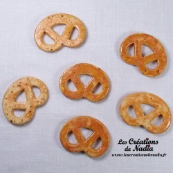Lot de 6 mini bretzels pain d'épice