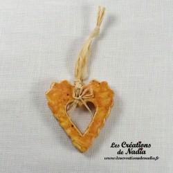 Moyen coeur dentelé pain d'épice