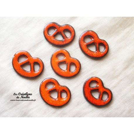 Lot de 6 mini bretzels orange