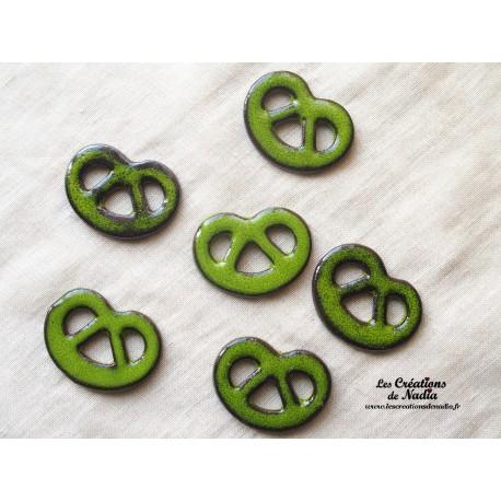 Lot de 6 mini bretzels vert