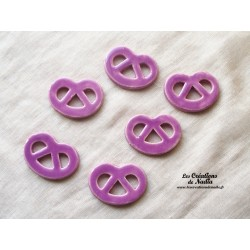 Lot de 6 mini bretzels lilas