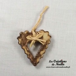 Moyen coeur dentelé crème brûlée