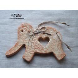 Eléphant vanille en céramique