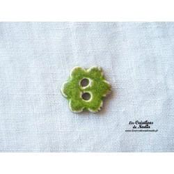 Bouton grande fleur vert