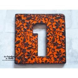 Plaque numéro maison orange