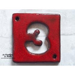Plaque numéro maison couleur rouge