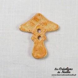 Bouton champignon pain d'épice