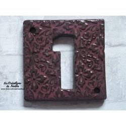 Plaque numéro maison vieux rose