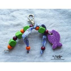 Grigri bijoux de sac lilas