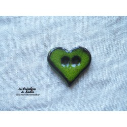 Bouton coeur vert