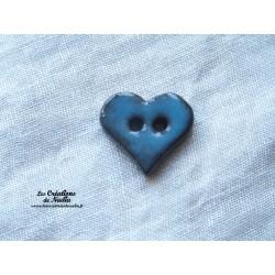 Bouton coeur bleu