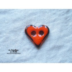 Bouton coeur orange