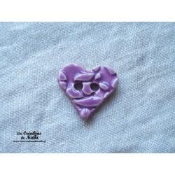 Bouton coeur lilas