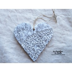 Coeur en céramique Elsass café breloque croix