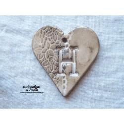 Coeur belle lettre couleur marron glacé