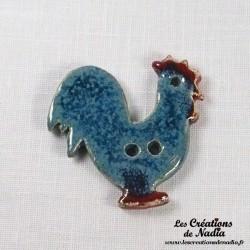 Bouton coq bleu