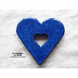 Coeur dessous de plat bleu nuit