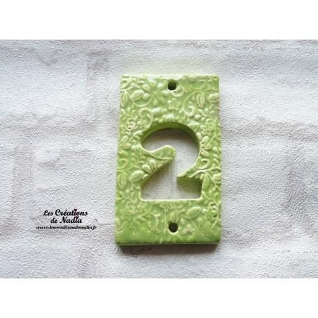 Plaque numéro maison vert amande