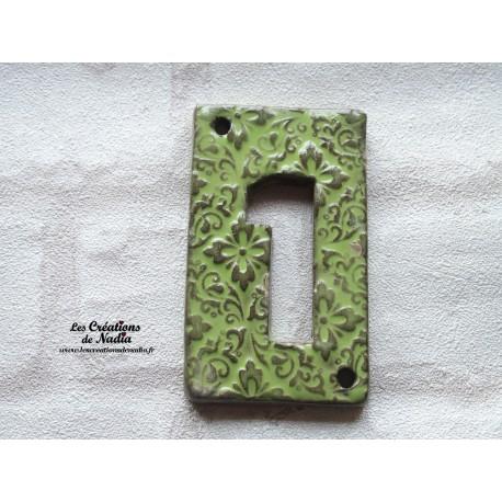 Plaque numéro maison vert tilleul