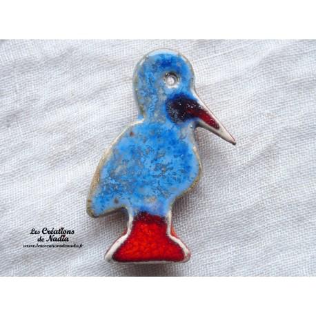 Magnet cigogneau couleur bleu-gris marbré