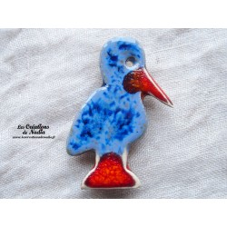 Magnet cigogneau couleur bleu marbré