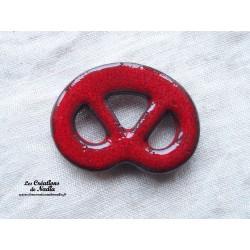 Magnet bretzel couleur rouge piment