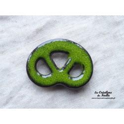 Magnet bretzel couleur vert reinette
