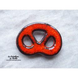 Magnet bretzel couleur orange