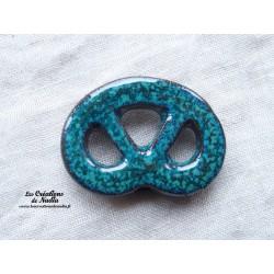 Magnet bretzel couleur vert émeraude
