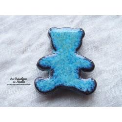 Magnet ourson couleur bleu turquoise